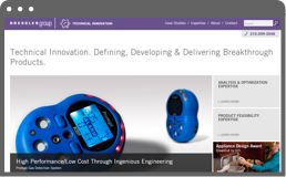 screenshot of Bressler Group's technical innovation page