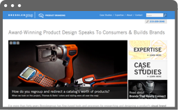 screenshot of Bressler Group's Product Branding page