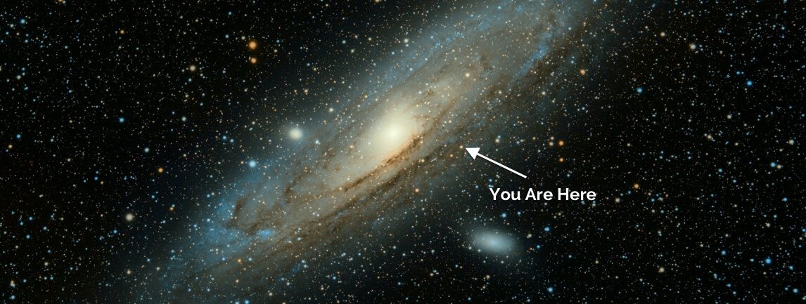 You are here (in space)