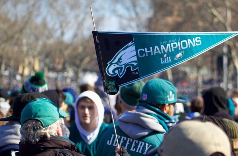photo of the philadelphia eagle's superbowl parade